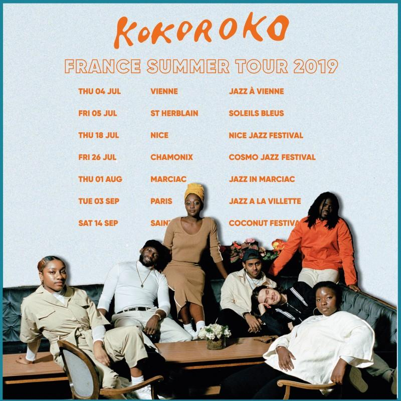 Kokoroko - France Summer Tour 2019 !