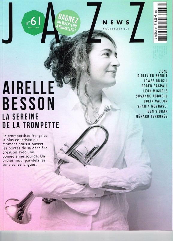 Airelle Besson en couverture de Jazz News